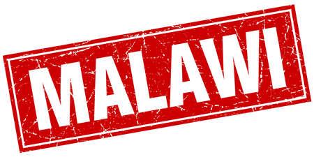 malawi: Malawi red square grunge vintage isolated stamp Illustration