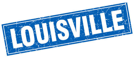 louisville: Louisville blue square grunge vintage isolated stamp