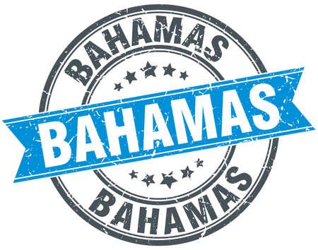 bahama's: Bahamas blue round grunge vintage ribbon stamp