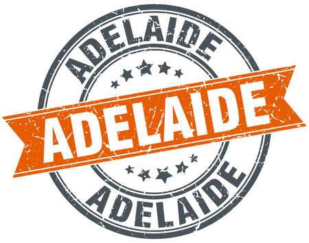 adelaide: Adelaide red round grunge vintage ribbon stamp