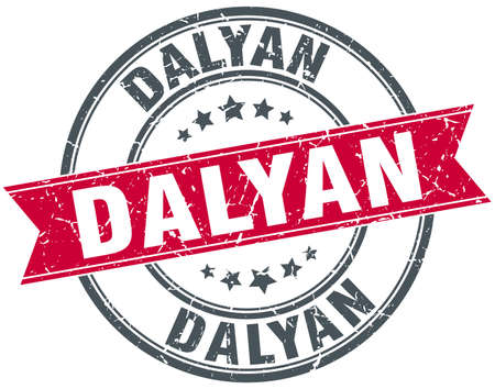 rubber band: Dalyan red round grunge vintage ribbon stamp