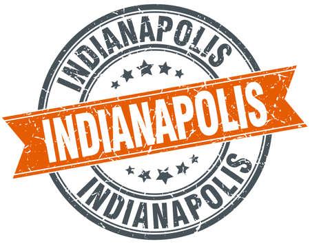 indianapolis: Indianapolis red round grunge vintage ribbon stamp