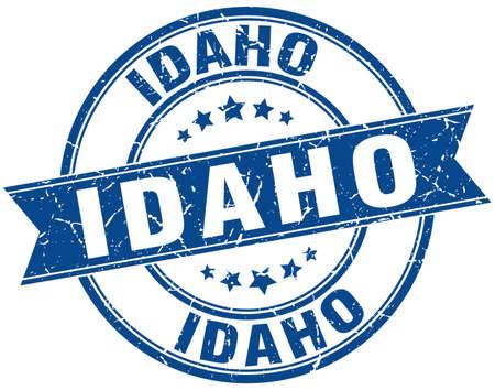 idaho: Idaho blue round grunge vintage ribbon stamp