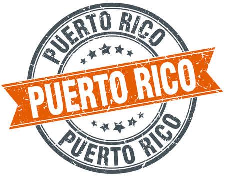puerto rico: Puerto Rico red round grunge vintage ribbon stamp Illustration