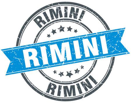 rimini: Rimini blue round grunge vintage ribbon stamp