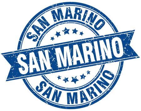 san marino: San Marino blue round grunge vintage ribbon stamp