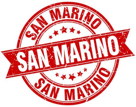 marino: San Marino red round grunge vintage ribbon stamp