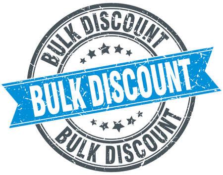 bulk: bulk discount blue round grunge vintage ribbon stamp