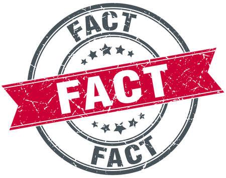 fact: fact red round grunge vintage ribbon stamp