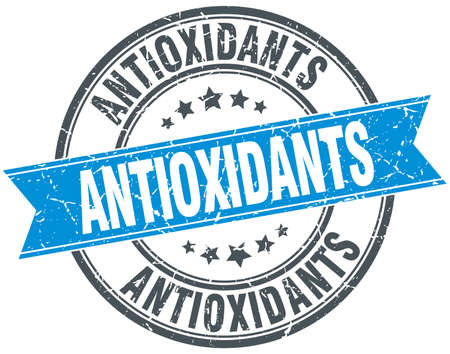 antioxidants: antioxidants blue round grunge vintage ribbon stamp