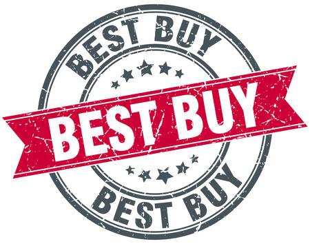 best buy: best buy red round grunge vintage ribbon stamp Illustration