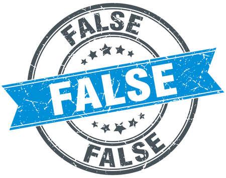 falso: azul del grunge ronda sello falsa cinta de la vendimia