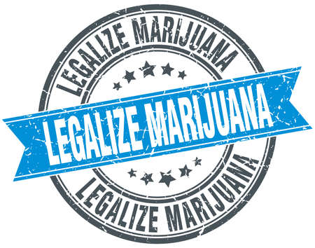 legalize: legalize marijuana blue round grunge vintage ribbon stamp