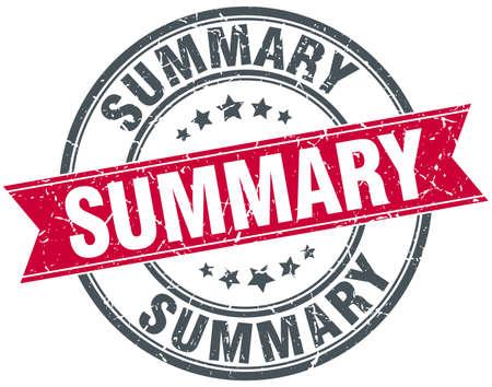 summary: summary red round grunge vintage ribbon stamp