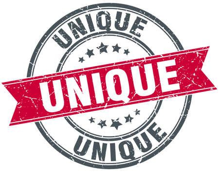 the unique: unique red round grunge vintage ribbon stamp