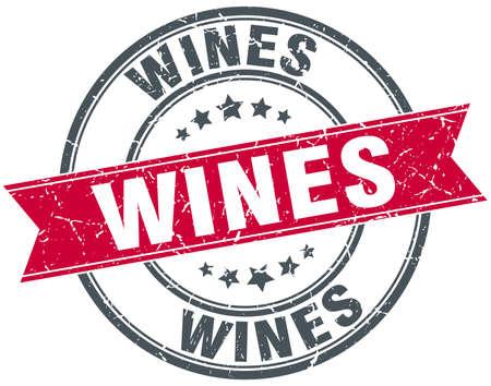 wines: wines red round grunge vintage ribbon stamp