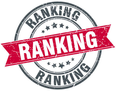 ranking: ranking red round grunge vintage ribbon stamp