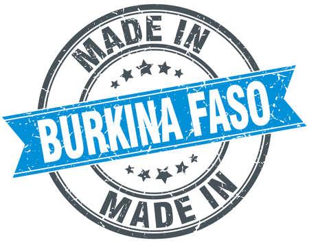 burkina faso: made in Burkina Faso blue round vintage stamp