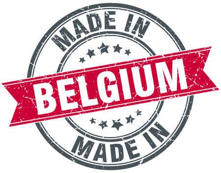 made in belgium: made in Belgium red round vintage stamp