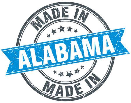 alabama: made in Alabama blue round vintage stamp Illustration