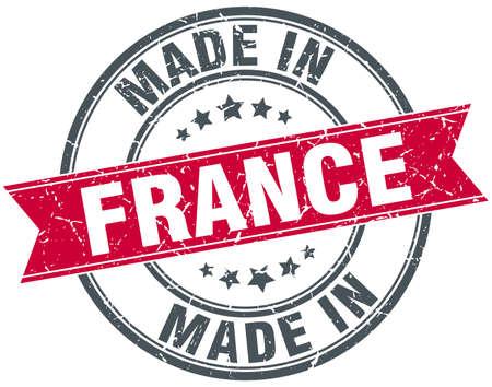 vintage stamp: made in France red round vintage stamp