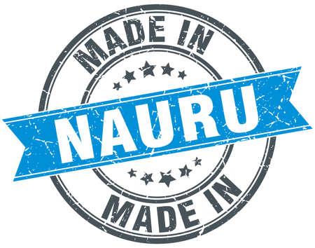 nauru: made in Nauru blue round vintage stamp