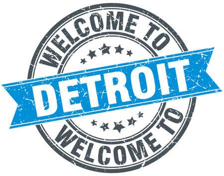detroit: welcome to Detroit blue round vintage stamp Illustration