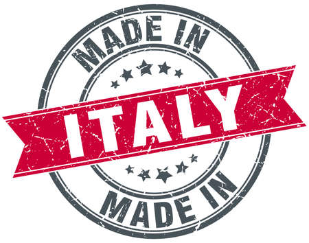 made in italy: made in Italy red round vintage stamp Illustration