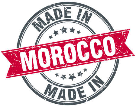made in morocco: made in Morocco red round vintage stamp Illustration