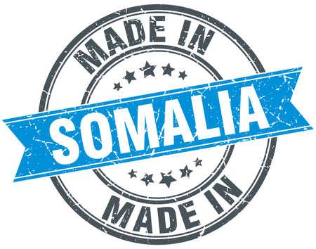 somalia: made in Somalia blue round vintage stamp Illustration