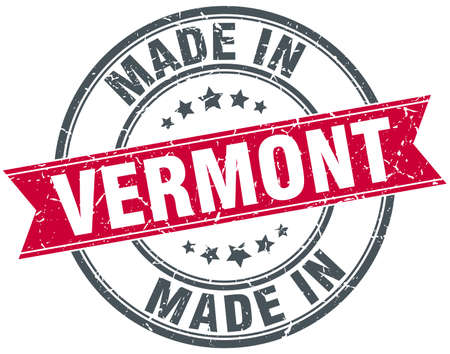 made in: made in Vermont red round vintage stamp Illustration