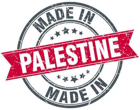 palestine: made in Palestine red round vintage stamp