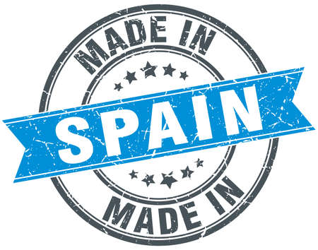made in spain: made in Spain blue round vintage stamp