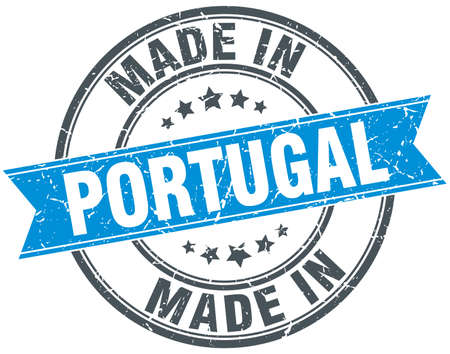 made in portugal: made in Portugal blue round vintage stamp Illustration