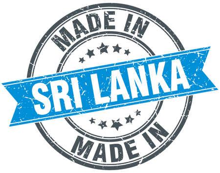 sri lanka: made in Sri Lanka blue round vintage stamp Illustration