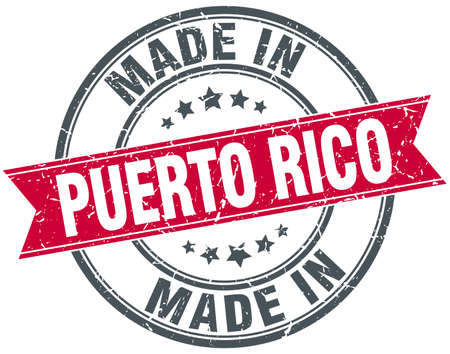 rico: made in Puerto Rico red round vintage stamp
