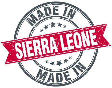 sierra: made in Sierra Leone red round vintage stamp Illustration