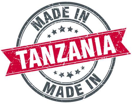 tanzania: made in Tanzania red round vintage stamp Illustration