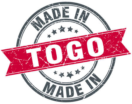 togo: made in Togo red round vintage stamp Illustration