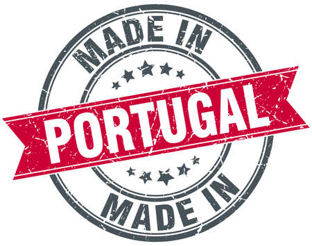 made in portugal: made in Portugal red round vintage stamp