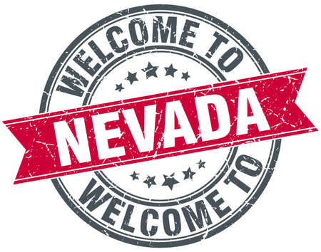 nevada: welcome to Nevada red round vintage stamp Illustration