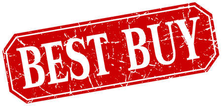 best buy: best buy red square vintage grunge isolated sign