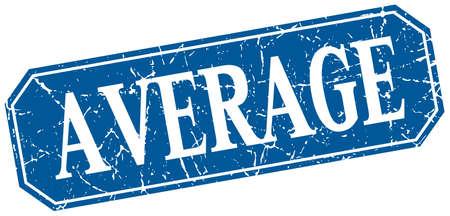 average: average blue square vintage grunge isolated sign Illustration