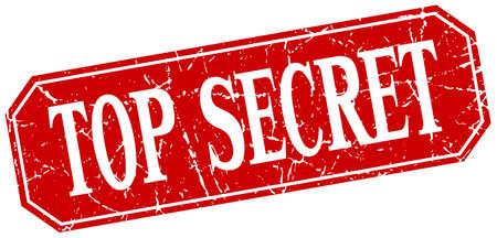 top secret: top secret red square vintage grunge isolated sign