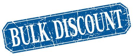 bulk: bulk discount blue square vintage grunge isolated sign