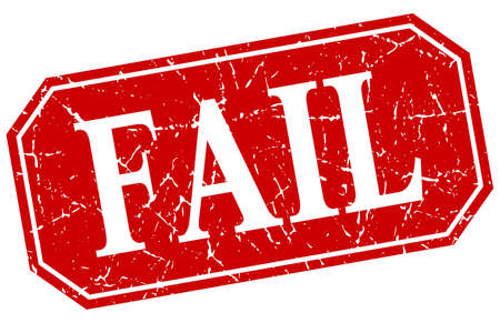 fail: fail red square vintage grunge isolated sign
