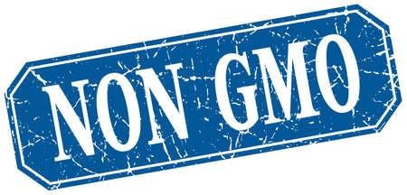 non: non gmo blue square vintage grunge isolated sign