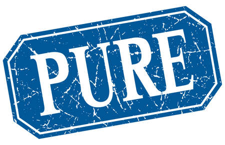 pure: pure blue square vintage grunge isolated sign