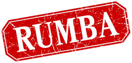 rumba: rumba red square vintage grunge isolated sign