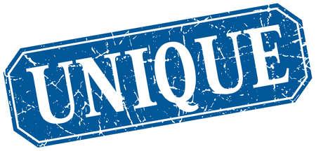 the unique: unique blue square vintage grunge isolated sign